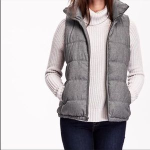 Old Navy Heather Gray Herringbone Vest XL